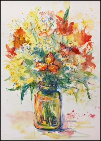 Charlotte Carter watercolor flowers