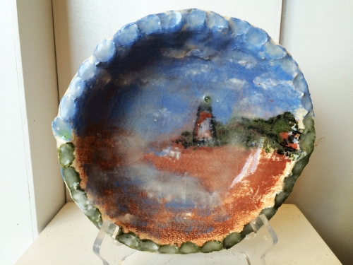 Clay bowl by Sally Morris