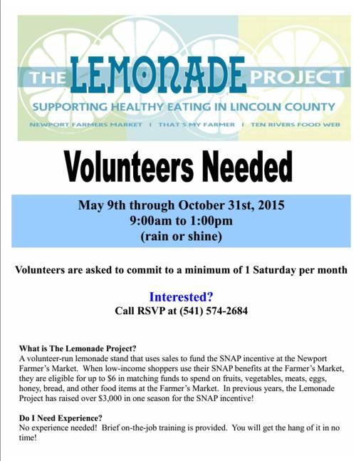 lemonade project flyer