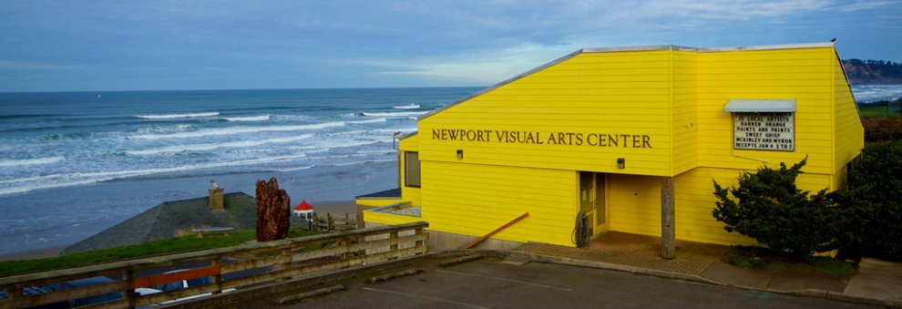 Newport Visual Arts Center Banner with Ocean