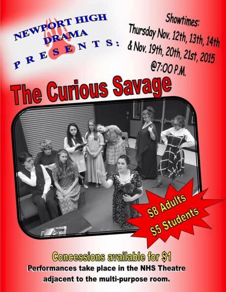 The Curious Savage Newport High School Nov. 12-14, 19-21