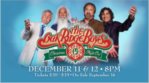 The Oak Ridge Boys Christmas Night Out December 11 and 12 Chinook Winds Casino