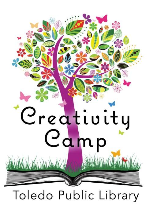 TOLEDO PUBLIC LIBRARY Creativitiy Camp logo