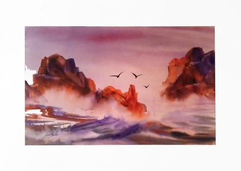 Watercolor by John Bradley
