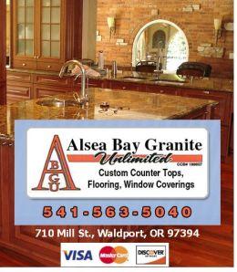 Alsea Bay Granite  through 4/13