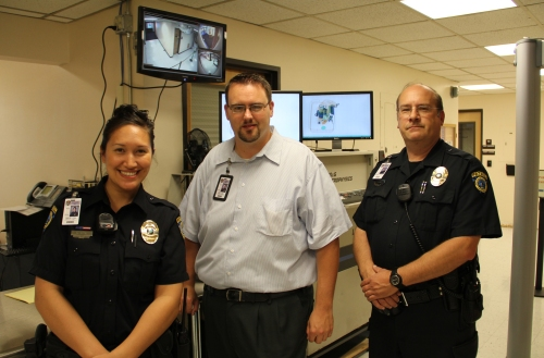 From left to right is TCB Officer Malia Vidal, Owner Mike Goff, and Officer Bob Shawver. (courtesy photo)