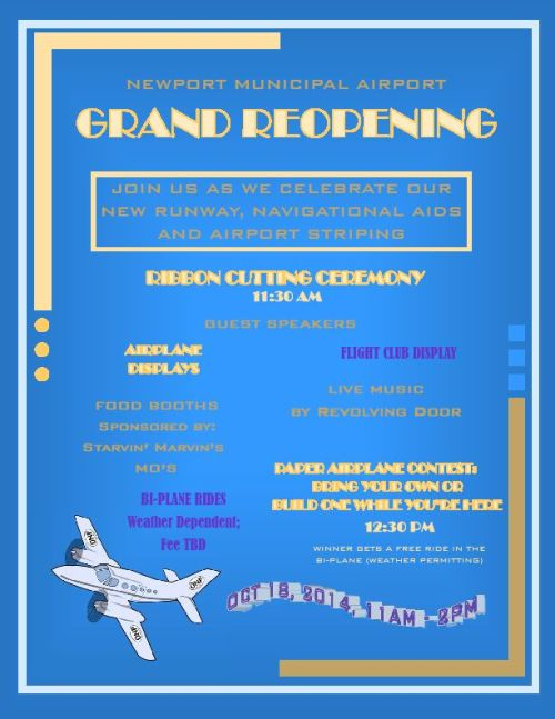 Grand Reopening Flyer Page 1