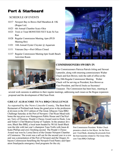 Port of Newport November 2015 Newsletter 2