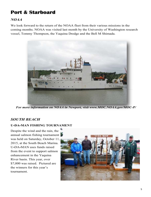 Port of Newport November 2015 Newsletter 5