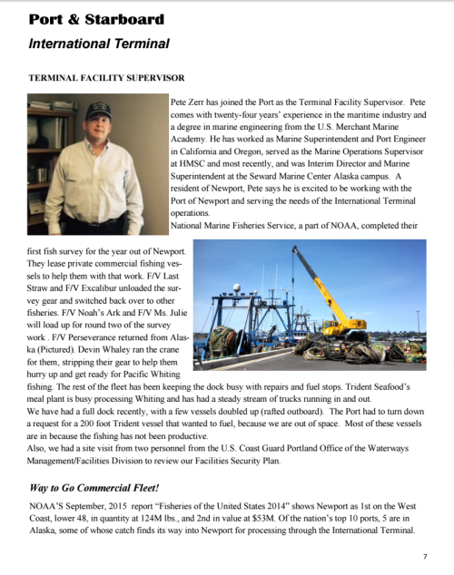 Port of Newport November 2015 Newsletter 7