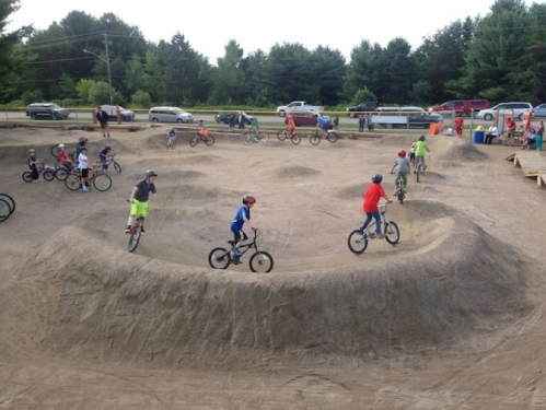 A local bicycle club hoped to build a pump bicycle track similar to the one pictured above at Coast Park in Newport. Local lodging owners have objected to the location, saying they are concerned the noise of youngsters using the track will disturb their guests. (Photo courtesy of Bike Newport)
