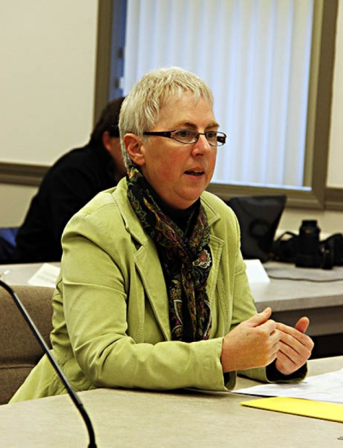 Public Health Director Rebecca Austen briefed county commissioners on preparations for dealing with Ebola. The two health officials said people in the U.S. are at far greater risk of dying from the flu than Ebola. (Courtesy photo)
