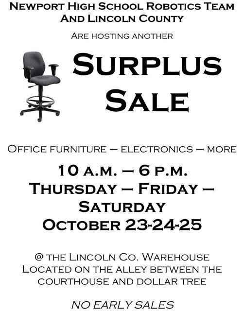 Surplus Sale 2014