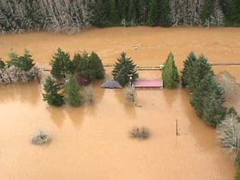 1999 Siletz river Flood (photo by Lincoln County emergency Management)