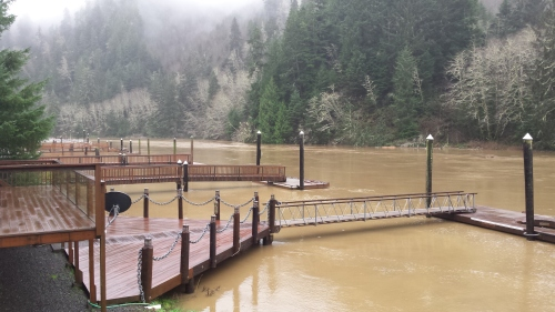 Flood pictures at fun river on the Siletz. (photos by Lori Anderson)