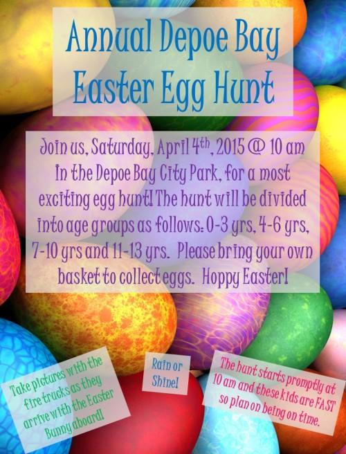 Egg Hunt flier