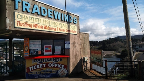 Oregon State Police Fish and Game troopers last week served a search warrant in April on Tradewinds Charters of Depoe Bay on suspicions the company had been taking money for one day fishing licenses but not issuing them. The investigation is ongoing and no charges have been filed. (Photo by Larry Coonrod)