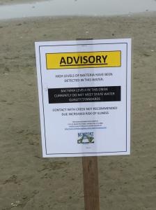 water advisory Nye Beach