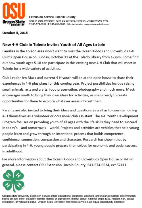 Toledo 4H Club